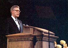 Bruce R. McConkie giving final Mormon testimony
