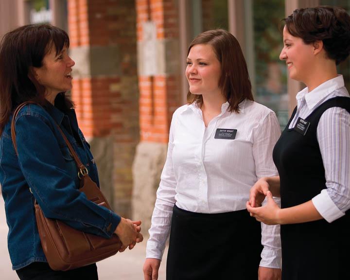 Sister Mormon Missionaries
