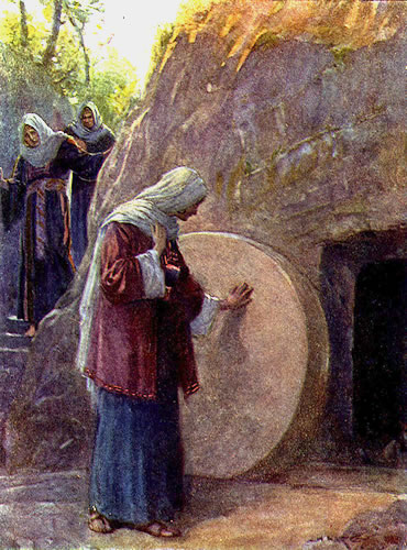 Mary Magdalene at the tomb of Jesus  Mormon