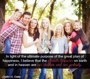 Mormon family posing.