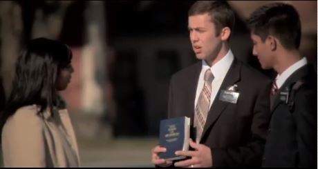 mormon missionaries sharing the gospel