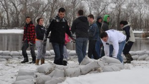 Mormons helping out during the Canada floods in Saskatchewan