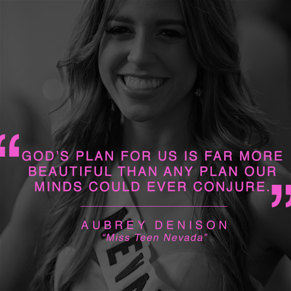 God's plan for us is far more beautiful than any plan our minds could ever conjure - Audrey Denison