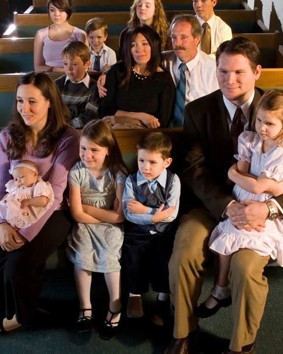Mormon Family Attending Church