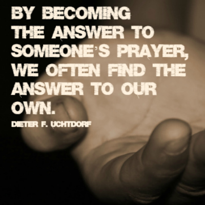 Outstretched Hand Be Answer to Prayer