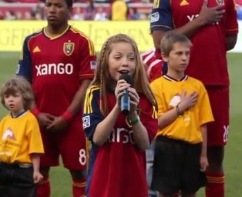 Lexi Walker sings the National Anthem