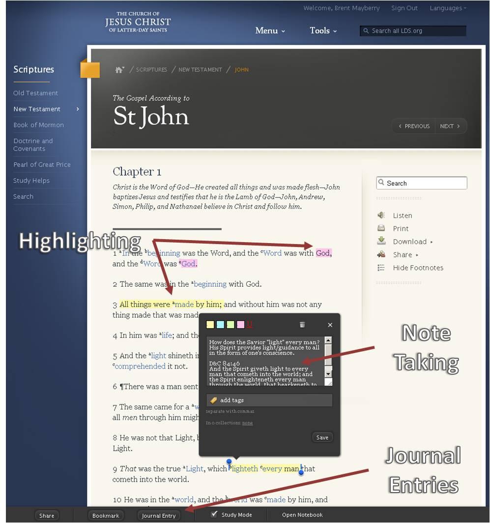 LDS Scripture Study Online