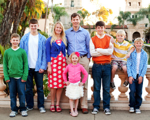 A happy Mormon Family