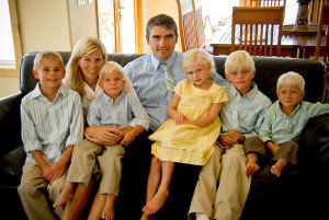 An LDS family at home together