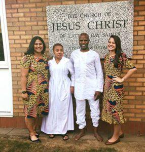 Alex Boyé baptizes his mother